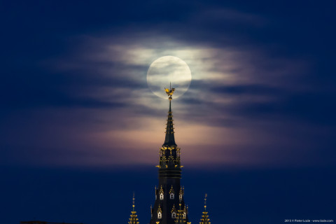 Full Moon Belfory Tower Gent, Belgium