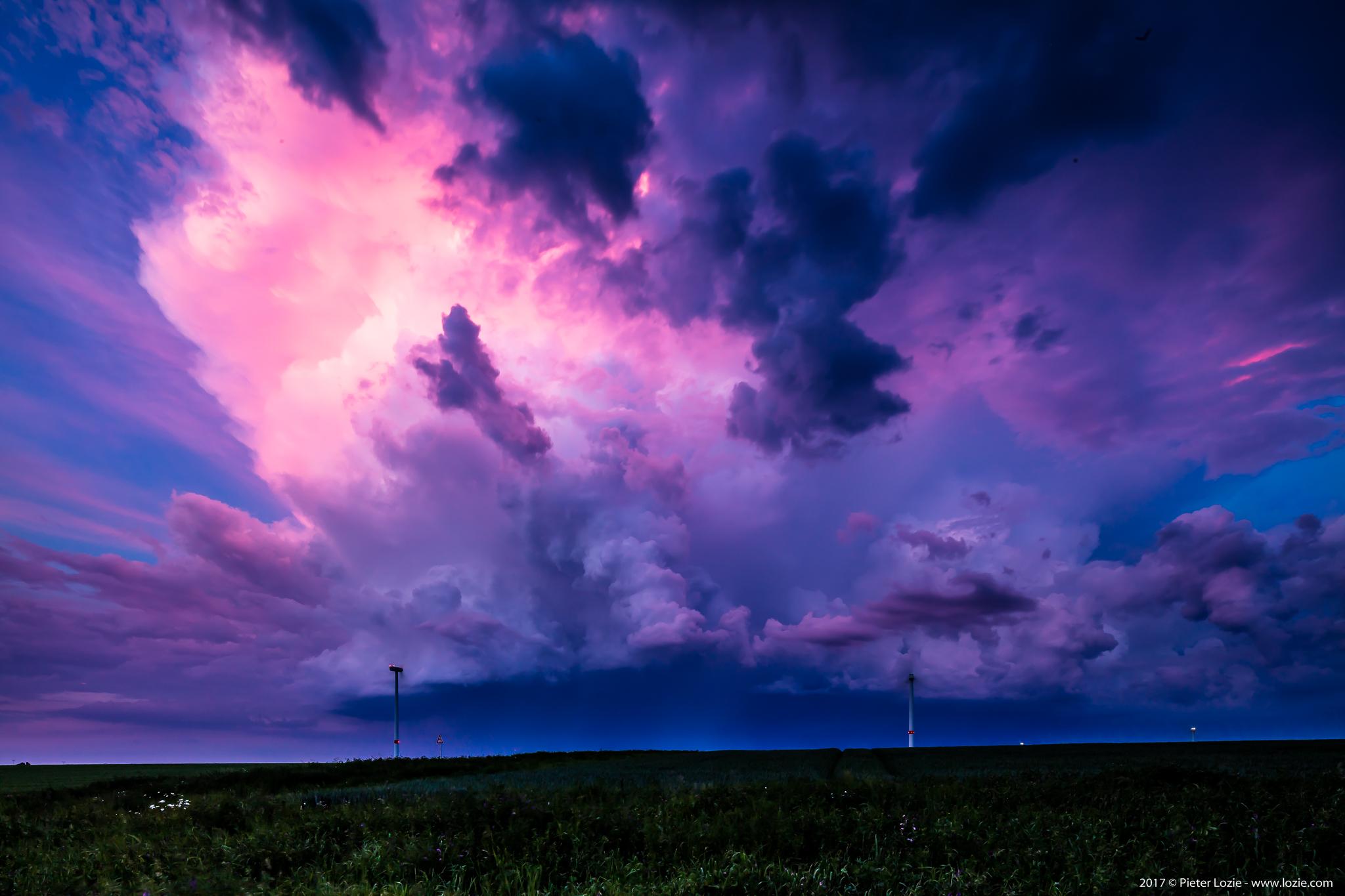 Lightning near Liège, Belgium