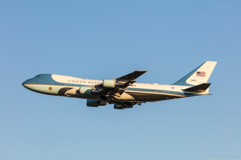 Air Force Two Brussels Airport 2017