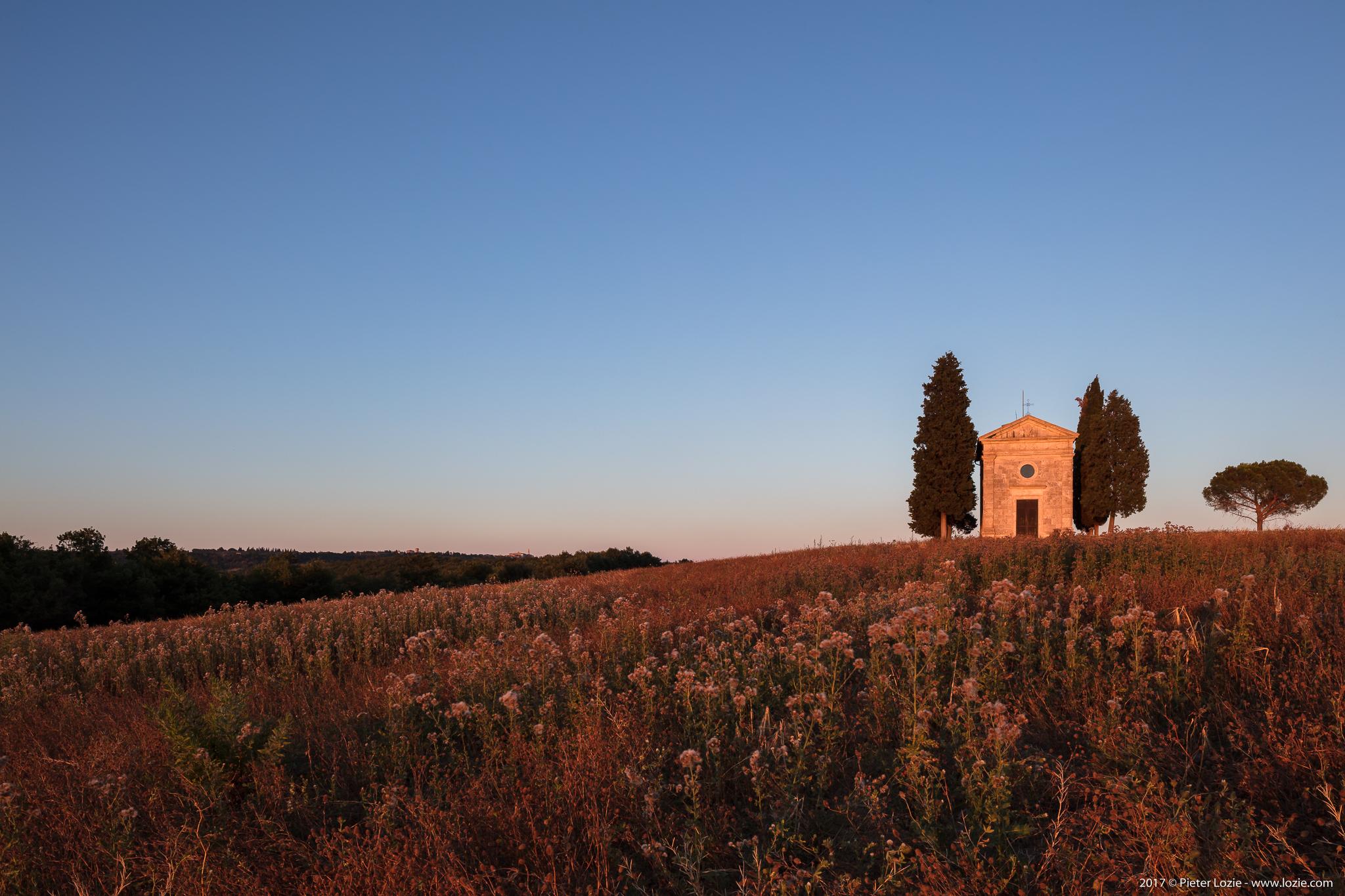 Chapel, Vitaleta, Tuscany, Italy