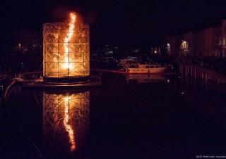 Large Fire Tornado, Lichtfestival 2018, Gent