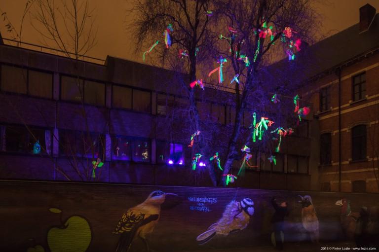 Geluksvogels, Lichtfestival 2018, Gent