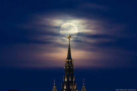 Full Moon Belfory Tower Gent, Belgium