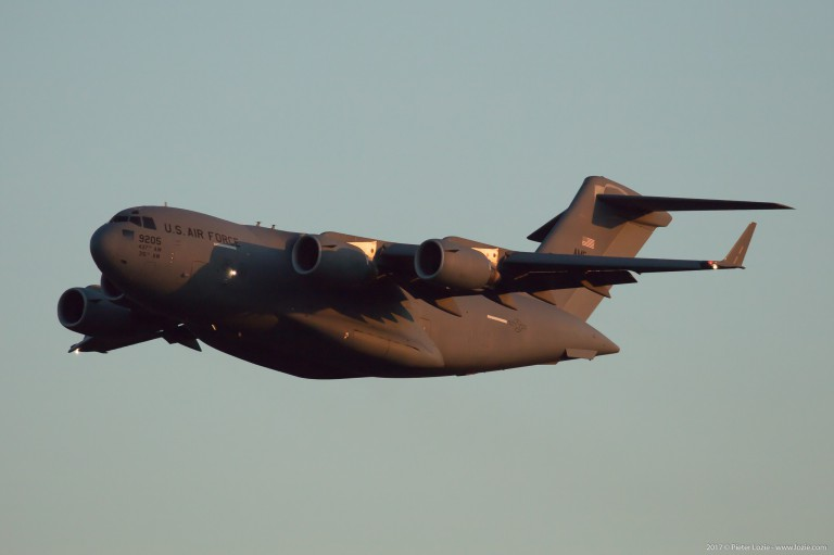 09-9205 USAF United States Air Force Boeing C-17A Globemaster III Brussels Airport 2017