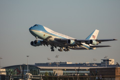 Air Force One Brussels Airport 2017